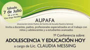Adolescencia y Educación Hoy - IASI - AUPAFA