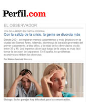 Diario Perfil - Con la salida de la crisis la gente se divorcia más
