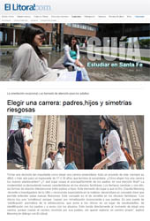 Nota Orientación Vocacional - Diario El Litoral de Santa Fé